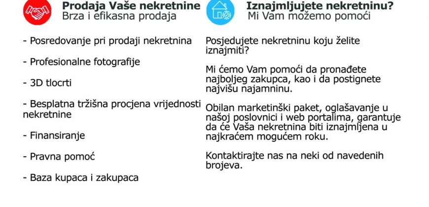 Adaptiran dvosoban stan 40m2, Skenderija