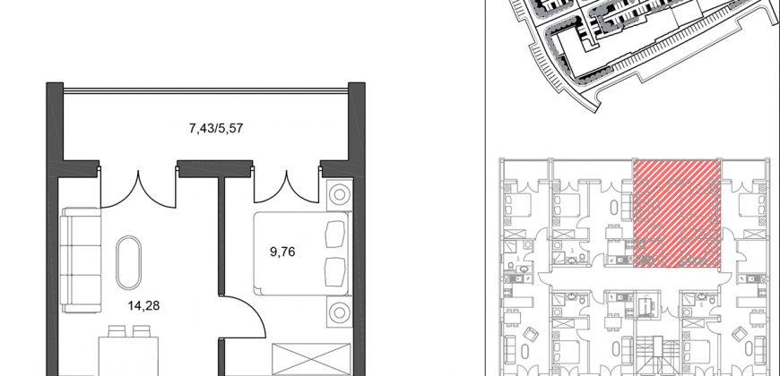 Dvosoban apartman / stan sa terasom, Jahorina