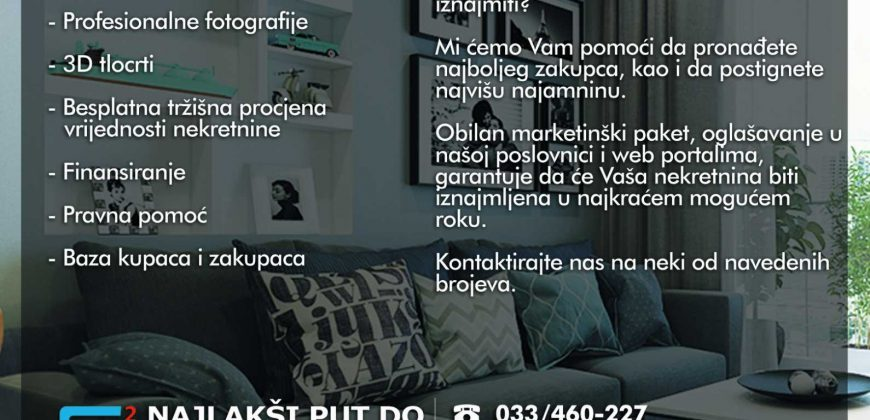 Dvosoban stan / 52m2 / 5. sprat / Bulevar / Stup