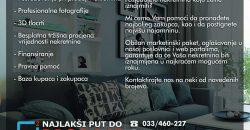 Namješten trosoban stan / 2. sprat / Šip / Centar